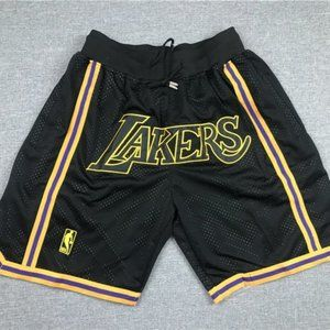 NWT🎡Just Don🎡 NBA LA Lakers🎡 Black Shorts 🎡